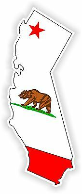 1x STICKER CALIFORNIA SILHOUETTE STATE decal MAP FLAG