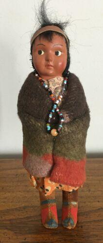 Vintage Native American Indian Skookum Doll #3