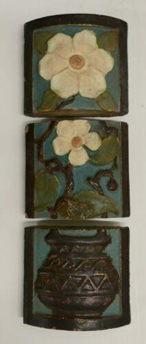 Malibu California 3-Tile Set Vintage Mantel Tiles