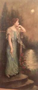 Oil on canvas signed and dated 1919