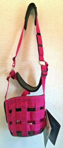 New Shires Comfort Grazing Muzzle Cob Size Anti-Chafe Padding Pink Horse Tack