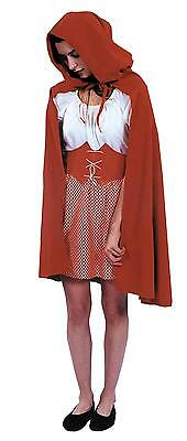ADULT LITTLE RED RIDING HOOD HOODED CAPE STORY BOOK COSTUME - Little Red Riding Hood Cape Adult