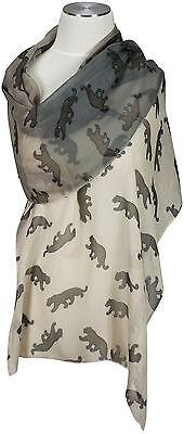 Beige Panther (Schal Panther Grau Beige  Farbverlauf, scarf  écharpe foulard Modal 50x180cm )