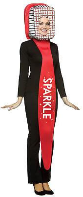 Sparkle Toothbrush Oral Hygiene Adult Costume Headpiece Halloween Rasta Imposta