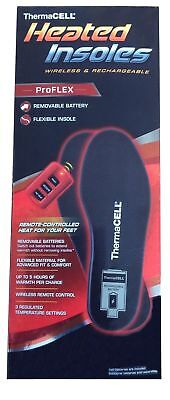 ThermaCELL ProFLEX Rechargeable Heated Insoles HW20-XXL NEW w/ Remote