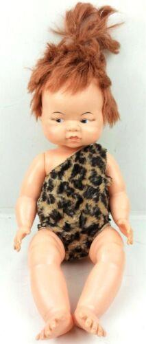 Vintage Pebbles Flintstone Doll 1961 Plated Moulds Leopard Leotard Articulated