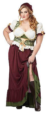 Renaissance Female Costumes (Renaissance Wench Tavern Maiden Medieval Adult Plus Size)