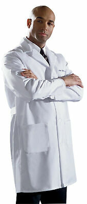 Medline Men's Fine Line Twill Staff Length Lab Coat All Sizes - Mens Twill Lab Coats