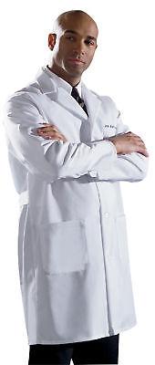 Medline Men's Fine Line Twill Staff Length Lab Coat All Sizes Staff Lab Coat