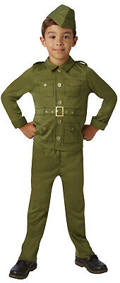 WW2 World War 2 Boys Kids Army Military Soldier Fancy Dress Costume Outfit 5-10