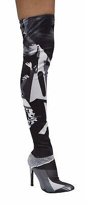 Cape Robbin Gigi 76 Over Knee Pointed Pointy Thigh High Heel Black