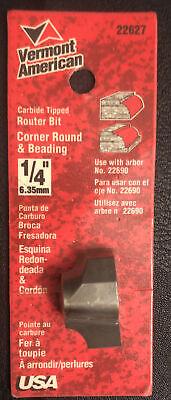 Vermont American 22627 Carbide Tip 14 Corner Round Beading Router Bit Usa
