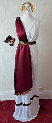 New Roman Greek Goddess Book Teacher, Spartacus Toga Fancy dress 14 16 Last (Roman Spartacus Kostüm)