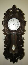 Black Forest Carved Chime Wall Regulator Clock made in Germany 8-Day, Key-wind