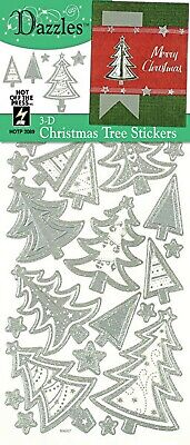 Silver 3D CHRISTMAS TREE DAZZLES Card Making Scrapbooking Stamping