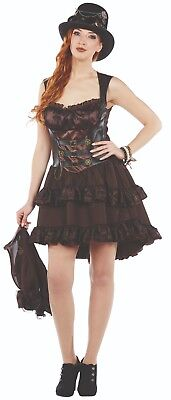 Rubies 13205 - Steampunk Kleid, Steam Punk Kostüm,Gr. 36 - 44 Halloween Karneval
