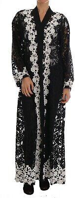 NEW $5600 DOLCE & GABBANA Dress Cape Floral Lace Ricamo Kaftan Abaya IT 42 /US 8