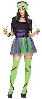 Sexy Frankie Baby Halloween Costume Adult Women Fancy Dress Frankenstein New