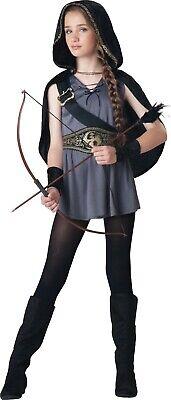 Hooded Huntress Tween Costume (Hooded Warrior Huntress Medieval Girls Tween)