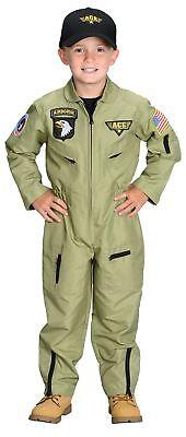 Kampfflieger Junior Kinder Kostüm Overall Air Force Aeromax Halloween