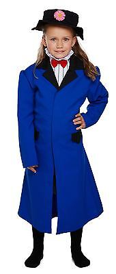 Nanny Mary Poppins Fancy Dress Costume Outfit Child Age 4-12 Yrs World Book Day ](Mary Poppins Costume Kids)