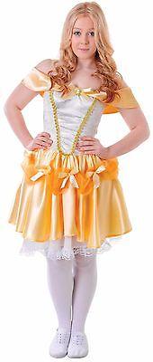 Teen & Ältere Mädchen Beauty Gelbgolden Prinzessin Kostüm Kleid Outfit 12-15yrs ()