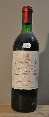 Rioja fino Clarete 1971 CASTILLO SAN LORENZO Espana Da Collezione! (rif. 092)