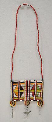 African Masai Beaded Necklace Kenya Vintage 21