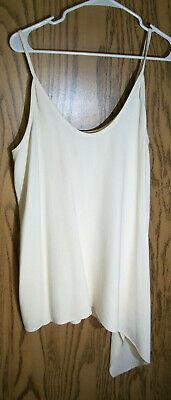 Beautiful HELMUT LANG Ivory Asymmetric Camisole Top - Size L