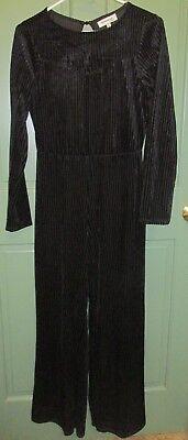 Monteau Los Angeles Women's Black Open Back Long Sleeve Jumpsuit - Size M