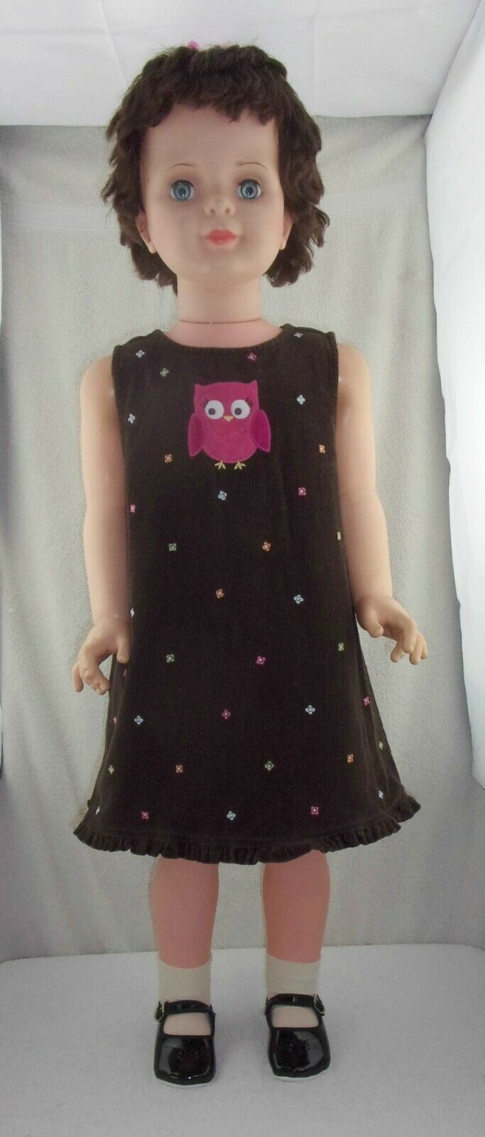 Doll Clothes Gymboree Corduroy Floral Owl Dress 2 Toddler fits Patti Playpal