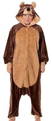 Bären Kostüm Damen Teddy Bär Tier Jumpsuits Overall Bärenkostü Wäschebeutel