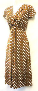 New-Ladies-Deco-Polka-Dot-Vtg-Retro-WW2-Land-girl-1940s-50s-Pin-up-Tea-Dress