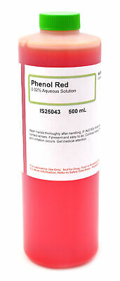 0.02 Aqueous Phenol Red Solution 500ml - The Curated Chemical Collection
