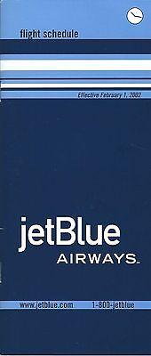 Airline Timetable   Jetblue Airways   01 02 02   Jet Blue