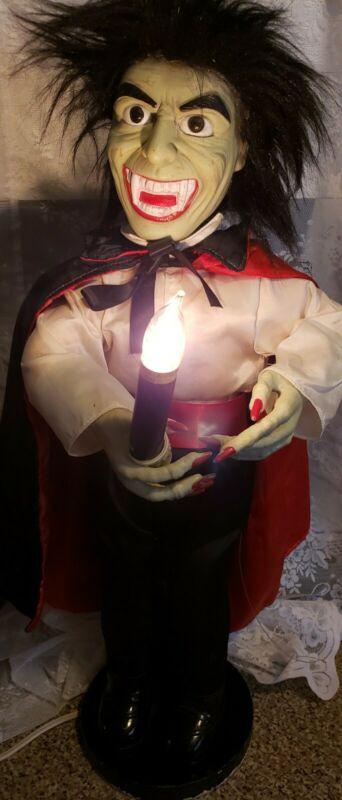 "Dracula Vampire Green Face Animated Motionette Halloween 24"" Telco Figure"