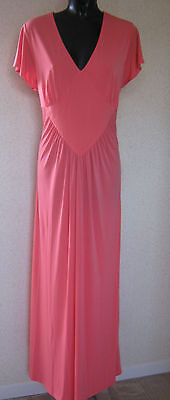 Holly Willoughby Coral Maxi Dress  Soft Jersey Long Dress Uk Size 10   New