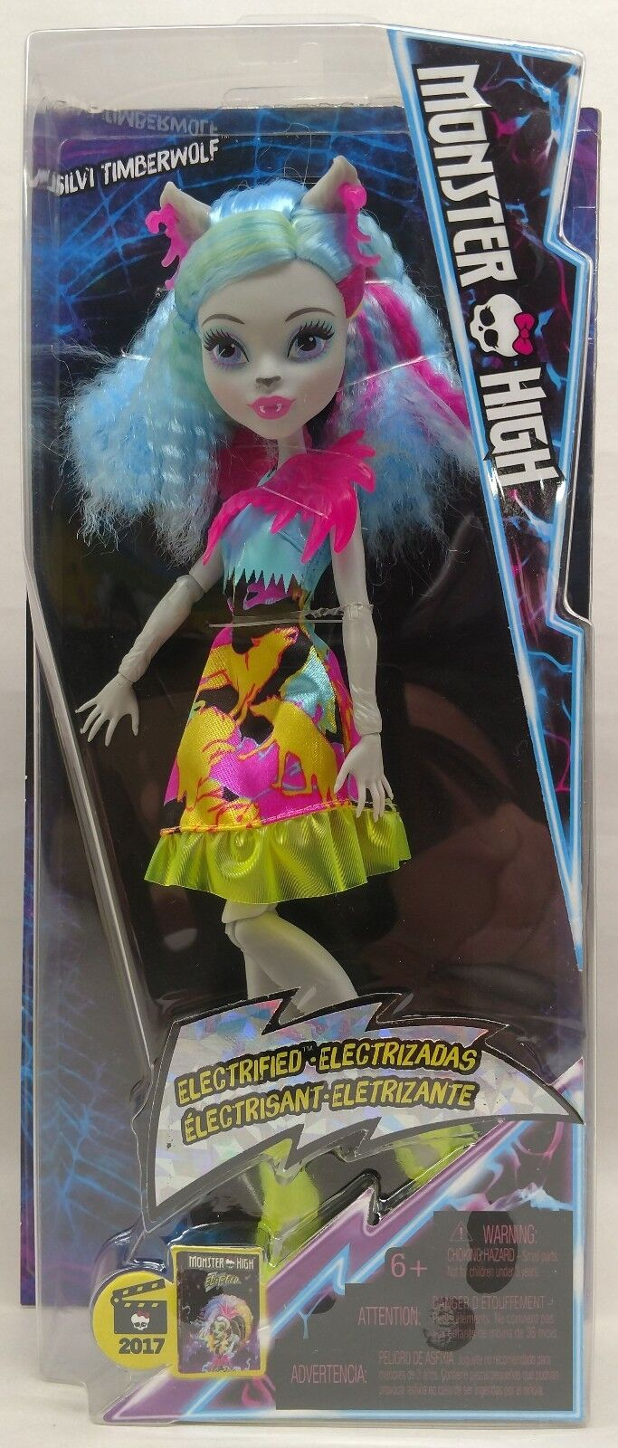 Monster High Electrified Hair-Raising Ghouls Silvi Timberwolf Doll