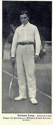 Ltn. Lange Sieger im Homburger Offiziers-Lawn-Tennisturnier *  Bilddokument 1906