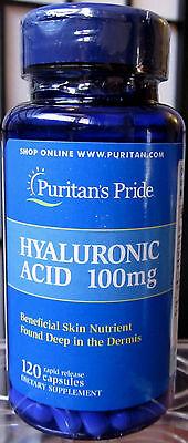 Puritan S Pride Hyaluronic Acid 100Mg  120 Caps Lubricate Joint   Bonus