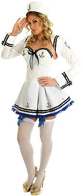 Sailor costume Fancy dress Flirty Sailor Girl Nautical Saucy Halloween (Flirty Sailor Girl)