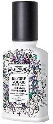 Used, POO-POURRI Bathroom Toilet Odor Neutralizer Natural Lavender Peppermint 4 oz for sale  Shipping to India