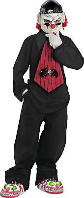 Street Mime Child Boys Over The Head Vinyl Mask Halloween - Child Mime Costume