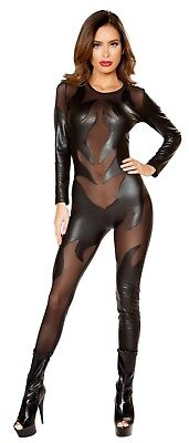 Black Catsuit 4812 Roma Costume Black Devil Costume Evil Devil Costume (Black Devil Costumes)