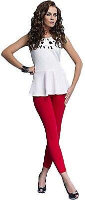 Damen bequeme Leggings Leggins blickdicht lang rot Gr M-XXL Rock Kleid - Bequeme Kostüm