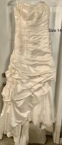 New off white wedding gown dress size 14