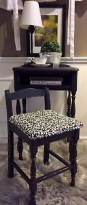 Antique Telephone Table and Chair