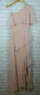 Keepsake The Label Maxi Dress  No Love Gown Short Sleeves Soft Pink BNWT Sz S