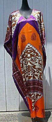 Womens Maxi Kaftan Abaya Jilbab Boho Chic KASBAH style Casual One Size Dress