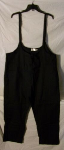 Maternity Women Spaghetti Strap Black Dungaree Solid Jumpsuit Overalls - New